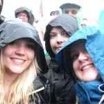 Wet through and waiting for Lily Allen